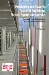 PUBLISHING PLAYERS AGENTS AND AGENDAS