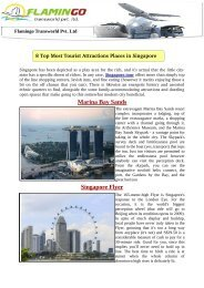 8 Top Most Tourist Attractions Places in Singapore