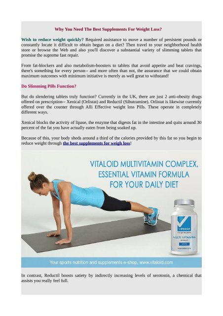 Lose weight to loss weight fast supplements