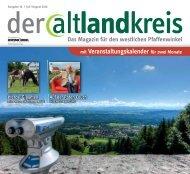 der altlandkreis - Ausgabe Juli/August 2016 - Das Magazin für den westlichen Pfaffenwinkel