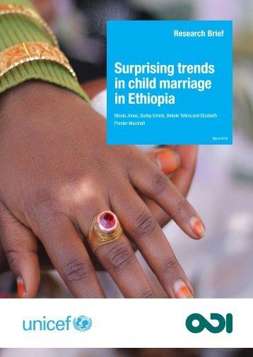 Surprising trends in child marriage in Ethiopia