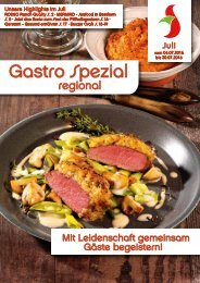 Gastro Spezial Juli 2016