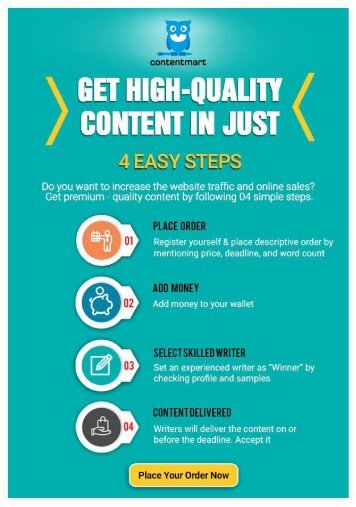 Get High-Quality Content in Just 4 Easy Steps