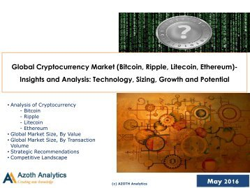 Global Cryptocurrency Market Report - Azoth Analytics Pvt. Ltd