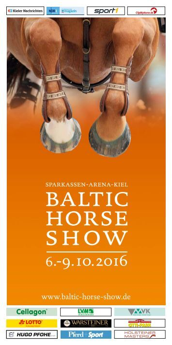 Baltic Horse Show Flyer 2016