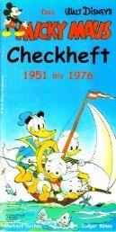 Micky Maus Checkheft - 1951-1976