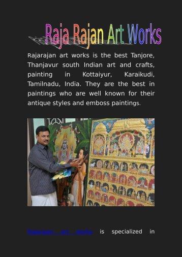 Raja Rajan Art works