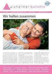 Wir halten zusammen – Alzheimer-Bulletin 1/2016