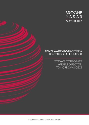 From Corporate AFFAIRS to Corporate Leader