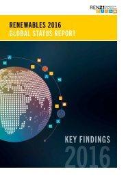 Global Status Report 2016 - Key Findings