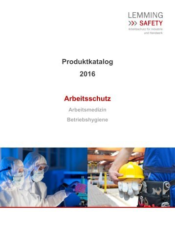 Katalog Arbeitsschutz 2016