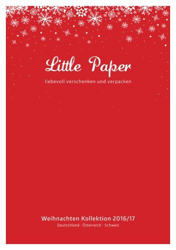 Little Paper Weihnachtskatalog 2016-/17