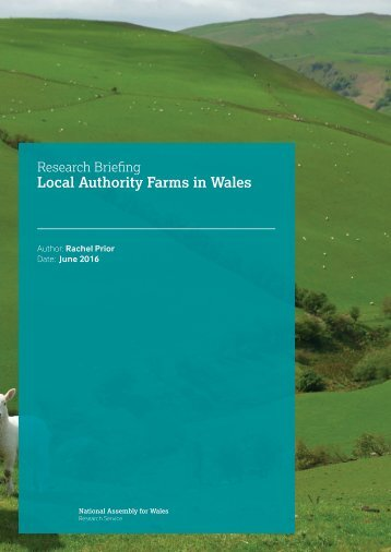 Local Authority Farms in Wales