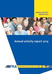 Annual activity report 2015