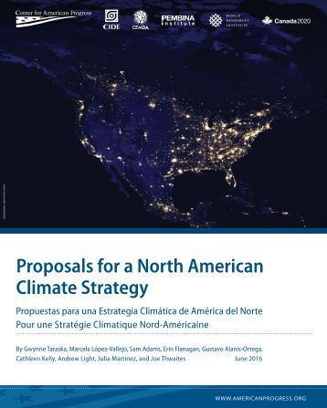 Proposals for a North American Climate Strategy
