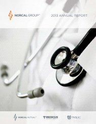NORCAL Group 2013 Annual Report