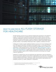 ALL-FLASH STORAGE FOR HEALTHCARE