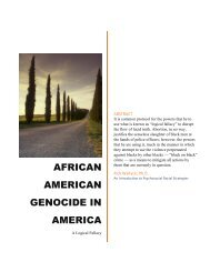 African American Genocide in America: A Logical Fallacy