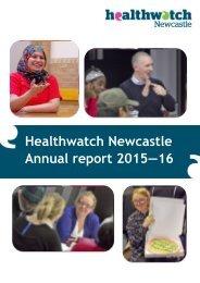 Healthwatch Newcastle Annual report 2015―16