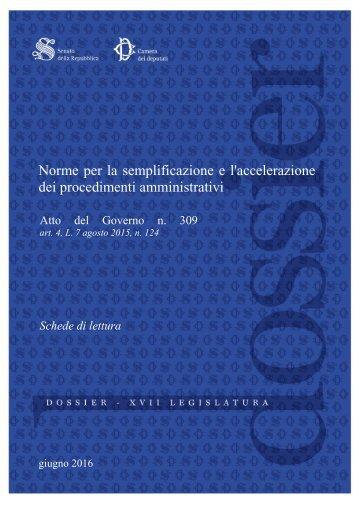 Norme per la semplificazione e l'accelerazione dei procedimenti amministrativi