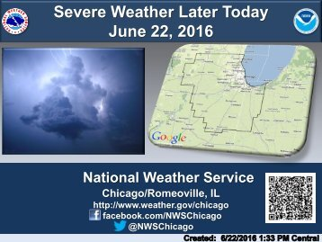 Severe Weather Later Today June 22 2016