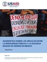 LA INSEGURIDAD PÚBLICA Y LA VIOLENCIA BASADA EN GÉNERO EN MÉXICO