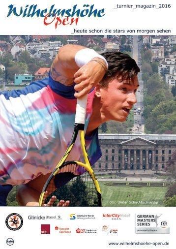 Turniermagazin Wilhelmshöhe Open 2016