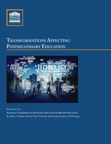 Transformations Affecting Postsecondary Education