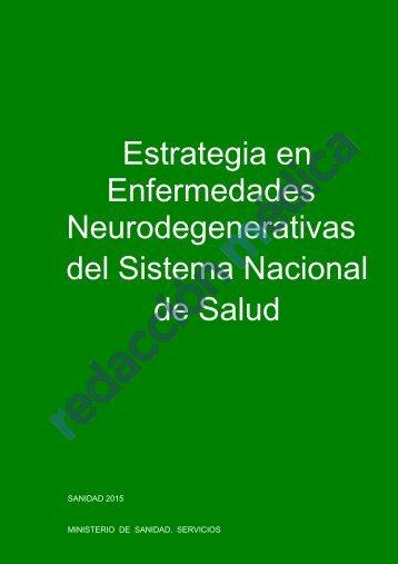 Neurodegenerativas del Sistema Nacional de Salud