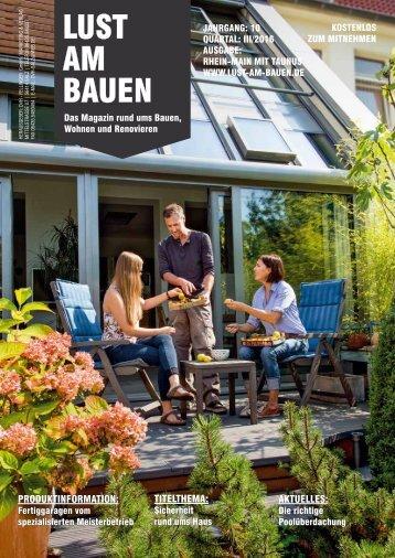 Lust am Bauen III. Quartal Rhein-Main mit Taunust
