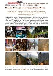 Thailand & Laos Motorcycle Tours