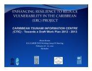 Alison Brome ICG/CARIBE EWS Working Group IV Meeting ...