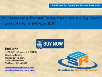 Noninvasive Prenatal Testing (NIPT) Market -Global industry Perspective, Comprehensive Analysis and Forecast, 2014 - 2020