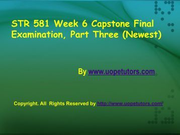 str581 str 581 week 3 quiz Click here to download str 581 week 4 capstone final examination part 2 3  which of the following is a desirable strategy for managers aiming to reduce.