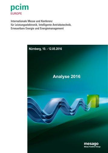PCIM Europe 2016 Analyse