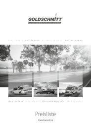Goldschmitt Kundenpreisliste
