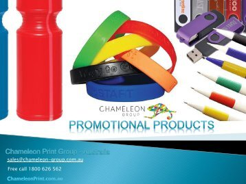 Promotional Products - Chameleon Print Group - Australia