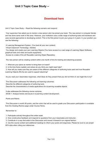 Unit 3 Topic Case Study --