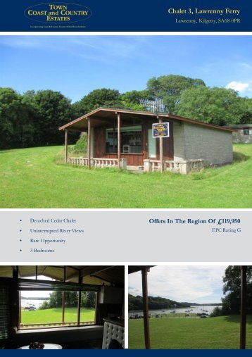 Chalet 3 Lawrenny Ferry Offers In The Region Of £119,950