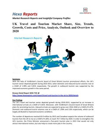 market research travel and tourism in
