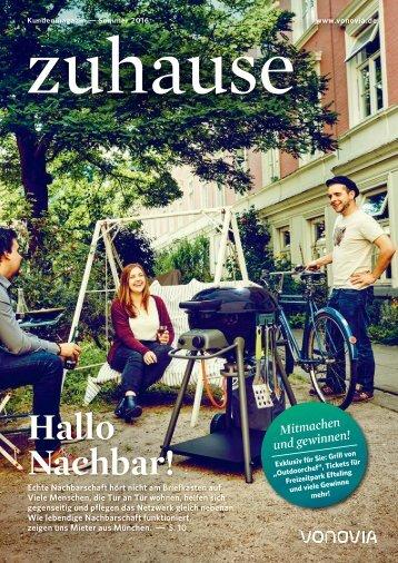 """Vonovia Kundenmagazin """"zuhause"""" Sommerausgabe 2016"""