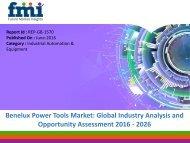 Benelux power tools market