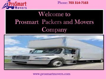 Residential Moving Services in Virginia|| ProSmart Movers