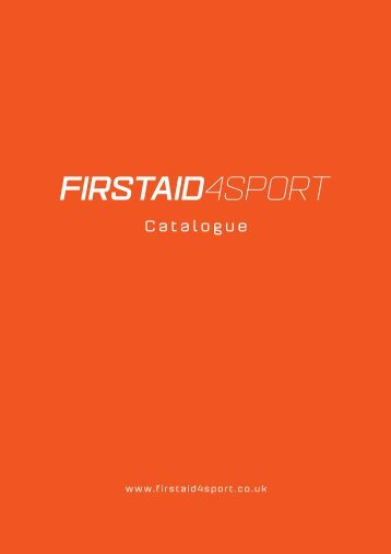 Firstaid4sport Catalogue 2016