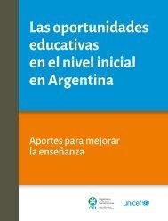 Las oportunidades educativas en el nivel inicial en Argentina