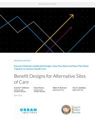 Benefit Designs for Alternative Sites of Care