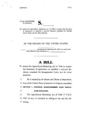 GMO bill