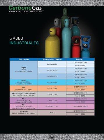 Catálogo Gases Industriales