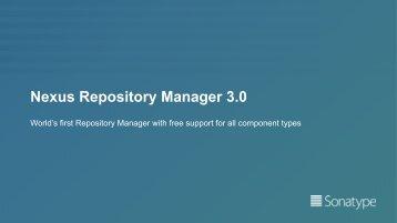 Nexus Repository Manager 3.0