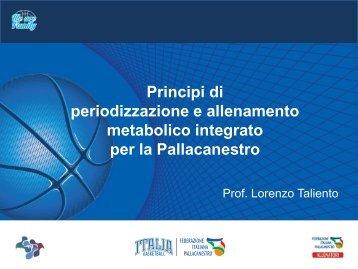 metabolico integrato per la Pallacanestro
